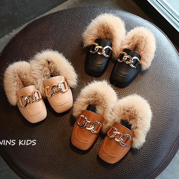 CCTWINS KIDS 幼児 チェーン 女の子 靴 子供 ファッション ピンク 暖かい フラット キッド ブランド PU レザー キャメル ロー ファー ビット ローファー 子供 フォーマル