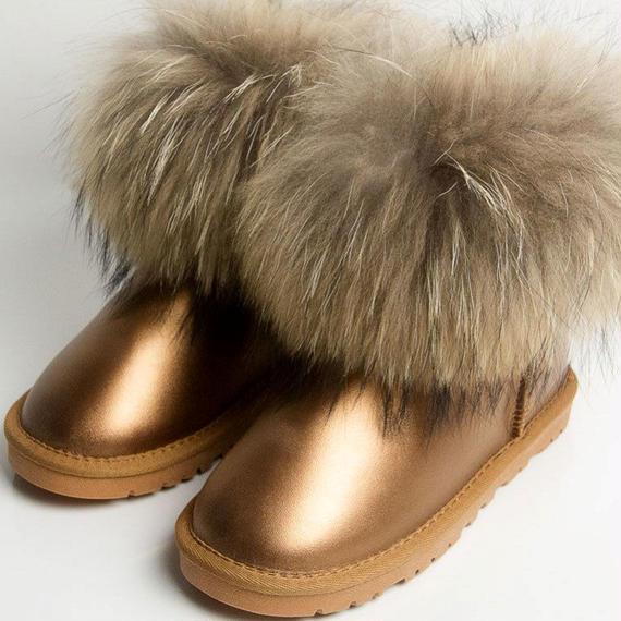 Cctwins 子供 冬 子供 ブランド スノーブーツ 赤ちゃん 女の子 リアル フォックス 幼児 少年 本革 子供 暖かい アンクル ブーツ ブーツ キッズ ビッグファー