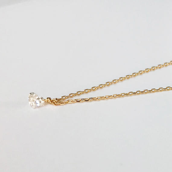 ハートシェイプダイヤモンドのネックレス