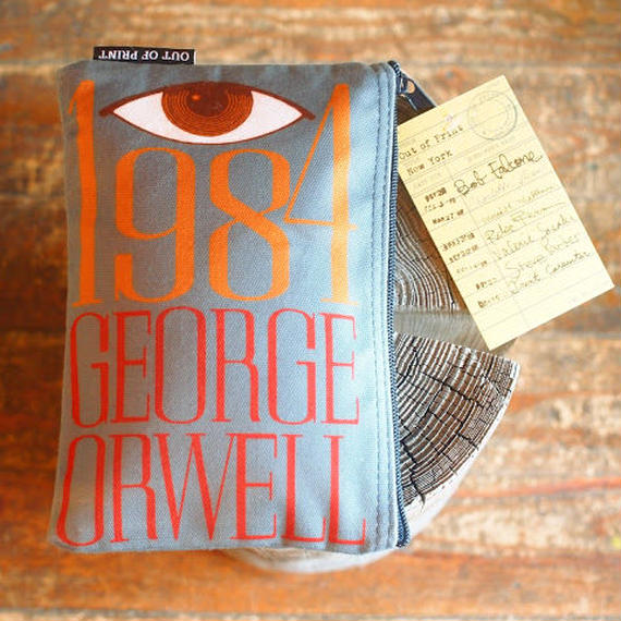 """""""OUT OF PRINT """"Book Pouch [GEORGE ORWELL 1984 ]"""
