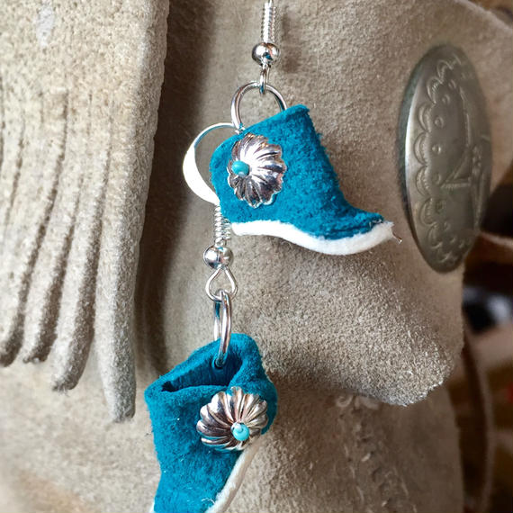 """NAVAJO"" Moccasin Pierce (turquoise)"