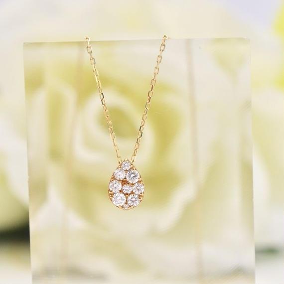 K18 ダイヤモンド ネックレス 0.30ct