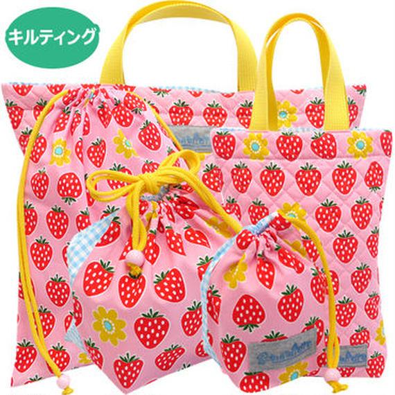 いちごちゃん ピンク5点セット(キルティング)ハンドメイド!