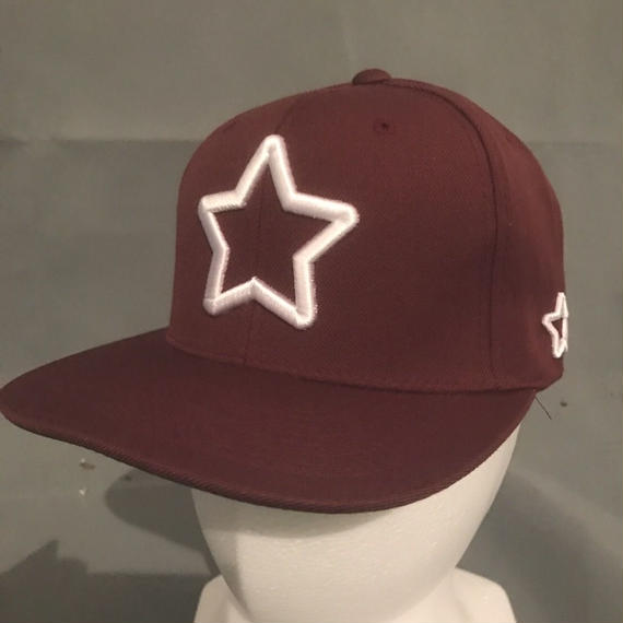 Mobstar cap Whitestar Maroon