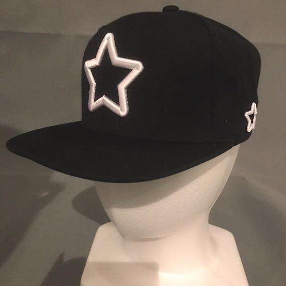 Mobstar cap Whitestar Black
