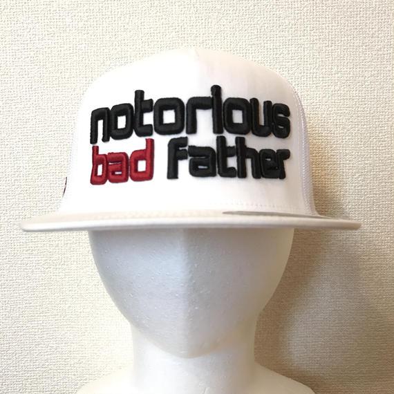 bad father mesh cap white