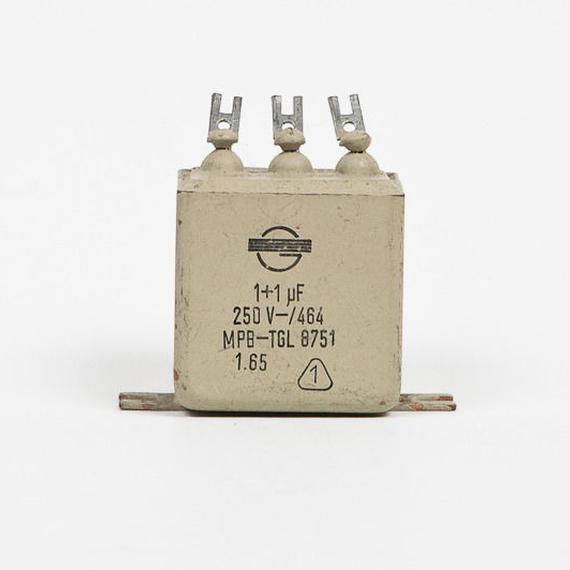 1uF+1uF/250V PIO ロシアミリタリーコンデンサー 2個セット