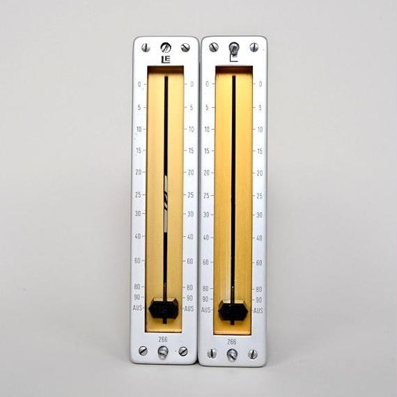 LE 266 / balanced passive fader mono 2 unit / yellow+silver