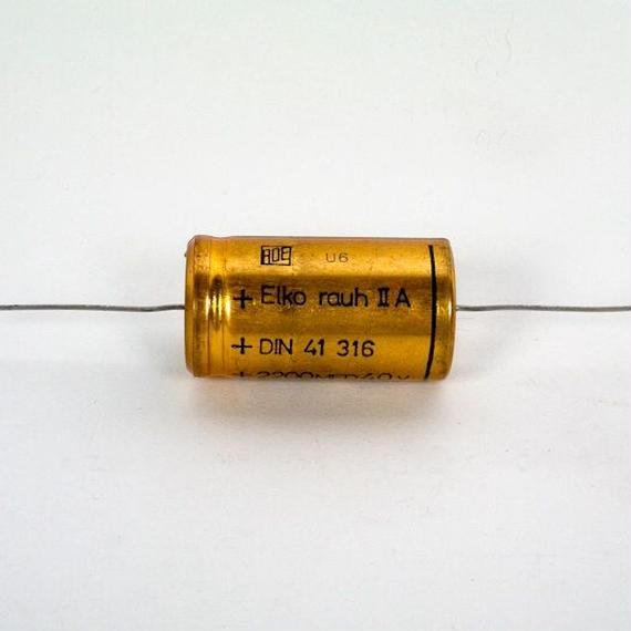 Elko 2200uF/40V, 85° axial コンデンサー