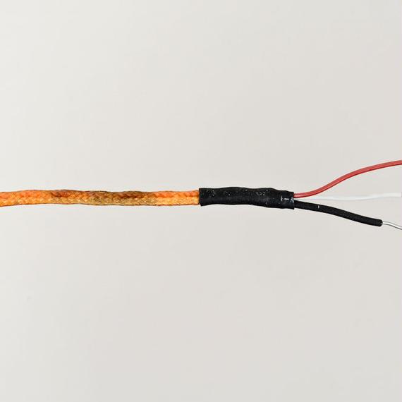 Siemens Klangfilm / 絹巻単線2芯シールドケーブル  約35cm4本          [vc-24]