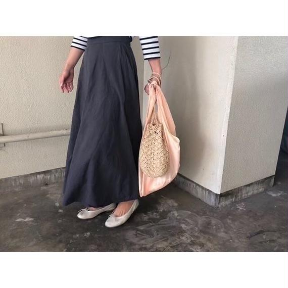 charcoal gray long skirt