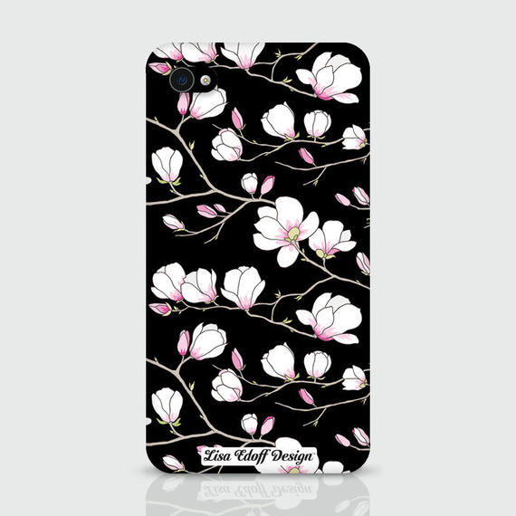 Black Magnolia Case for iPhone 6