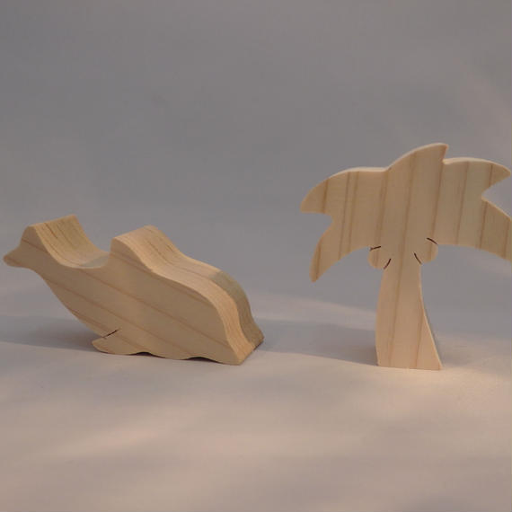 メモフォルダ(イルカ・ヤシの木)