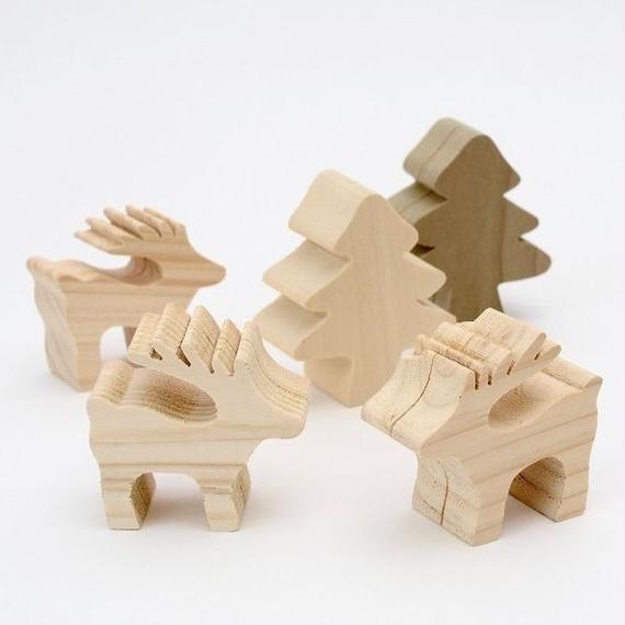 メモフォルダクリスマスセット(トナカイ3体・ツリー2体)