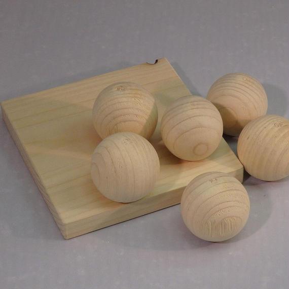 ヒノキ玉(6個入り)