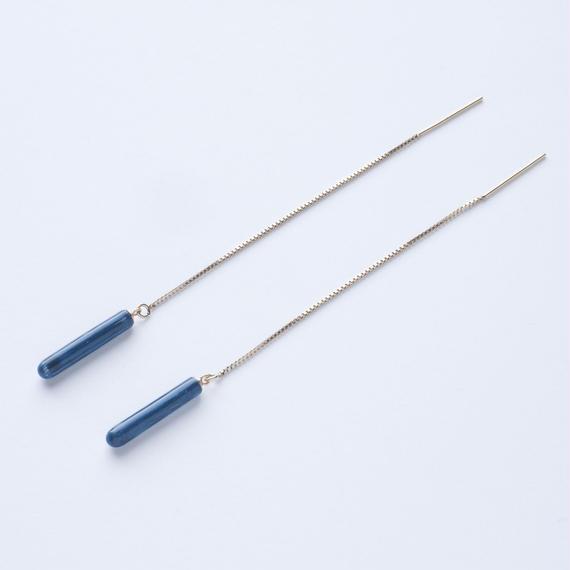 LAYER/POLE Earring Short Blue