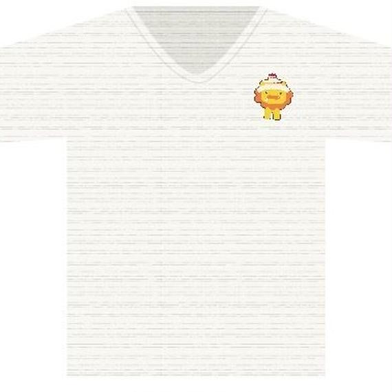 Tシャツ オートミール(手書きライオンキャラ)