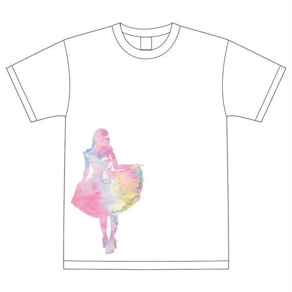 Tシャツ ホワイト(5周年ワンマンデザイン)