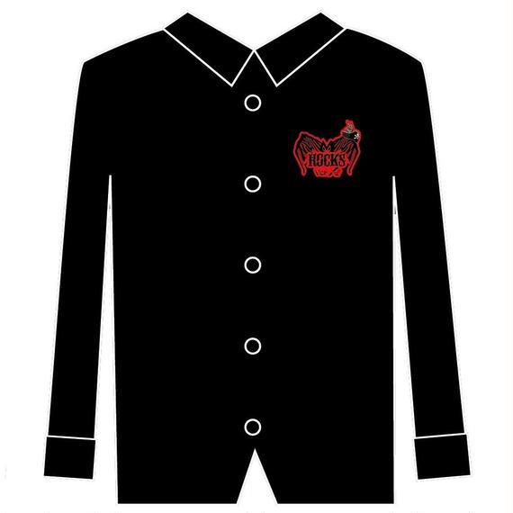長袖ブロードシャツ ブラック メンズ&レディース(ROCK PROJECT LIVE Ver.A)