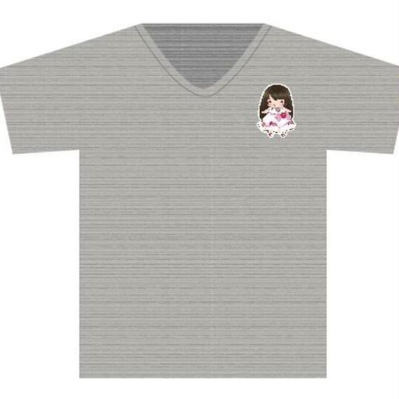 Tシャツ チャコール(手書きかなでキャラ)