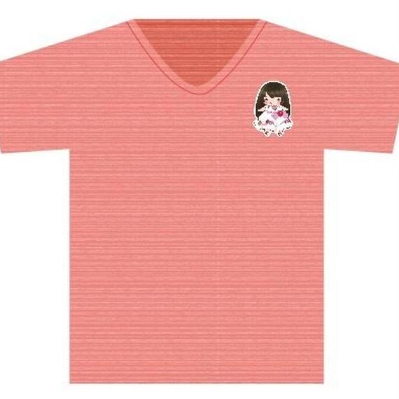 Tシャツ レッド(手書きかなでキャラ)