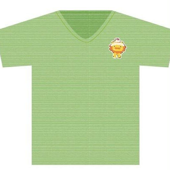 Tシャツ グリーン(手書きライオンキャラ)