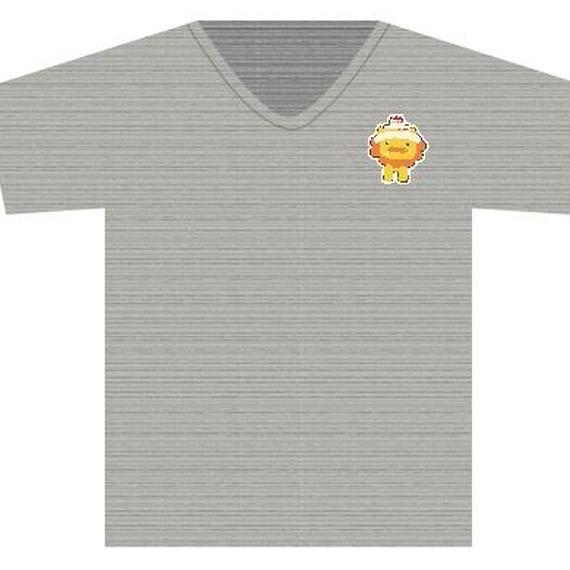 Tシャツ チャコール(手書きライオンキャラ)