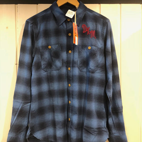 SERVICE FLANNEL CHECK SHIRT (BLUE CHECK)