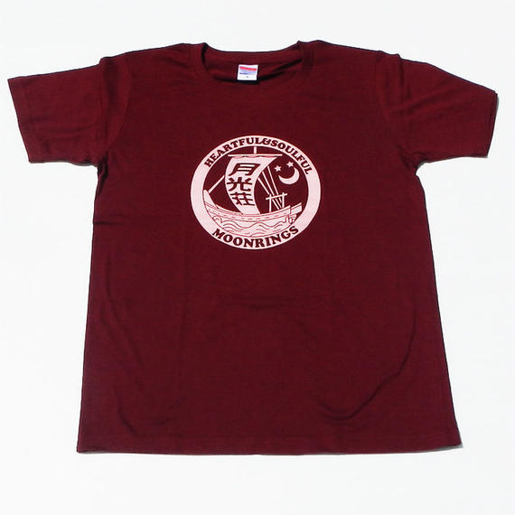 月光荘帆掛け船Tシャツ バーガンディー