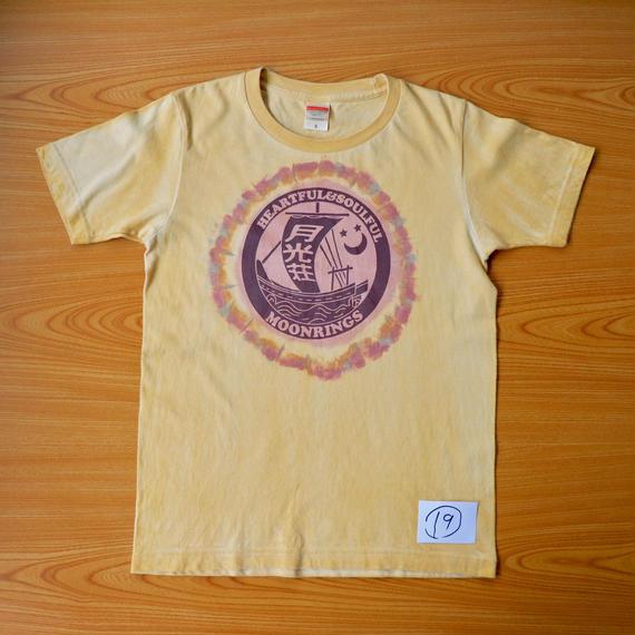 月光荘べんがら染 Tシャツ イエロー  NO.19-NO.21