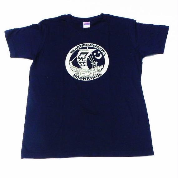 月光荘帆掛け船Tシャツ ネイビー