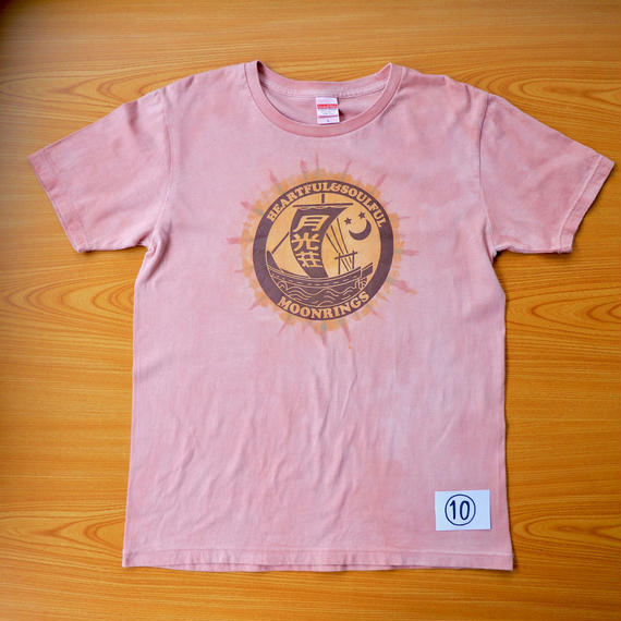 月光荘べんがら染 Tシャツ ピンク NO.10-NO13