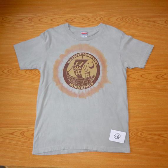 月光荘べんがら染 Tシャツ グレイ NO.26-NO.28