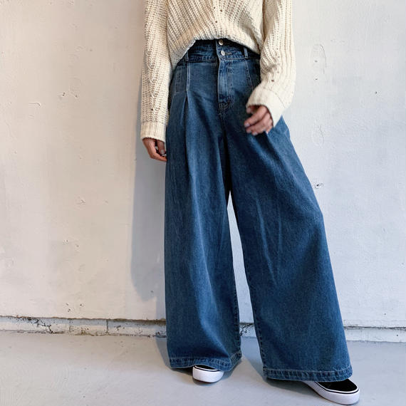 High waisted denim pants (BLU)