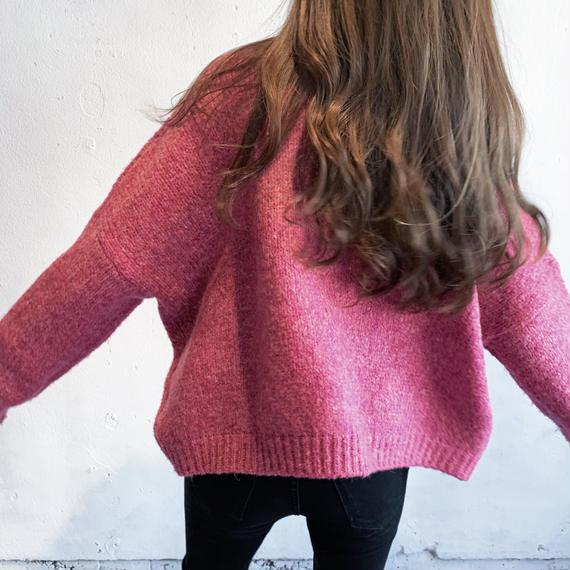 Rose pink high gauge knit