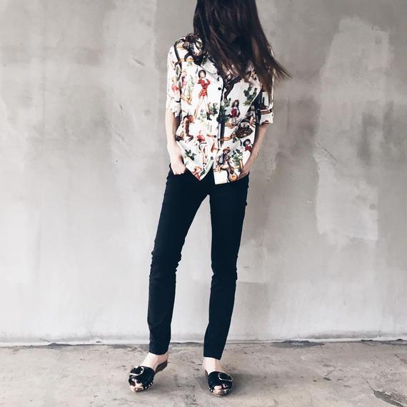 Girlアロハシャツ(ホワイト)