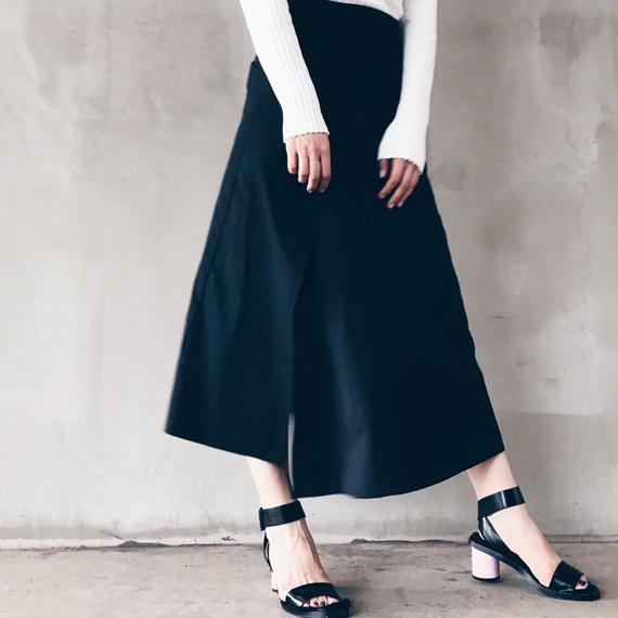 【即納】数量限定/ベーシックロングスカート(ブラック)