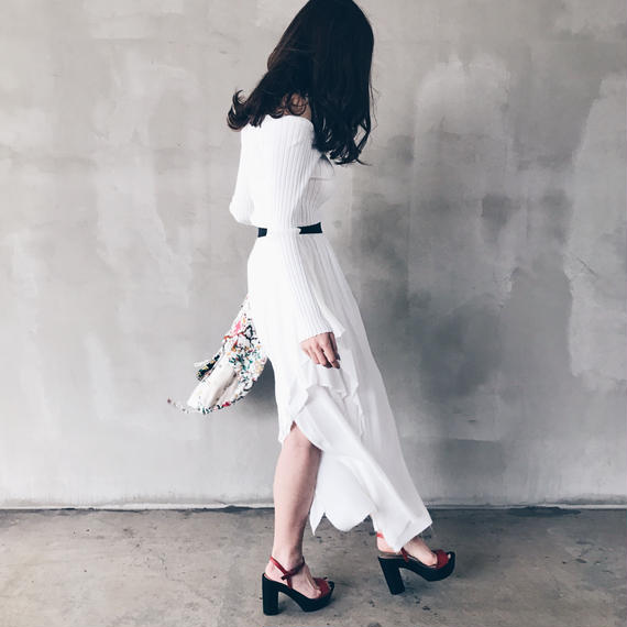 【即納】サンプルセール/ランダムスカート(ホワイト)