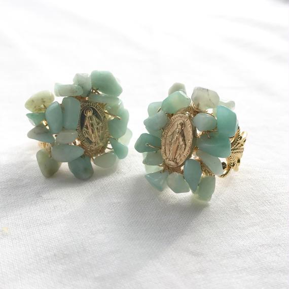 59 amazonite decorative ring