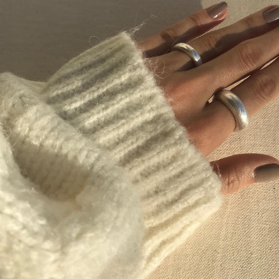 matte donut ring -silver-