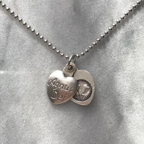 Agnus Dei ball chain necklace (silver)
