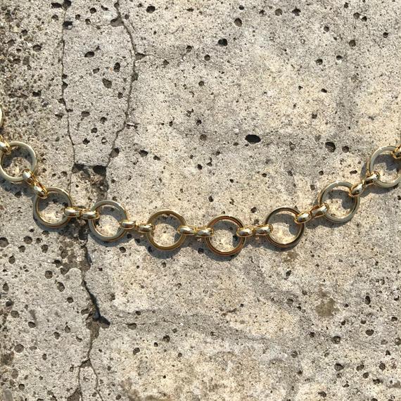 gold vintage chain choker