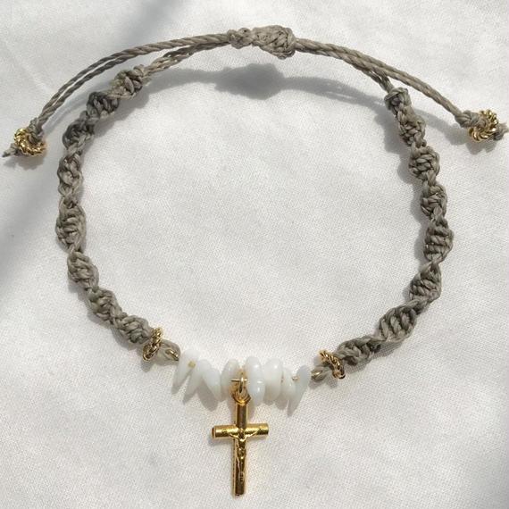 92 white jade brown code bracelet