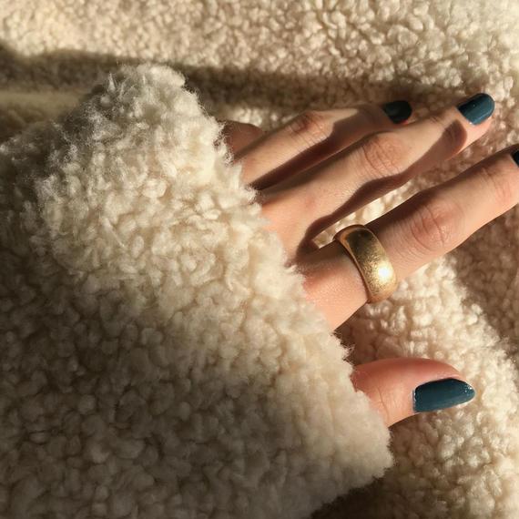 matte wide flat ring -gold-