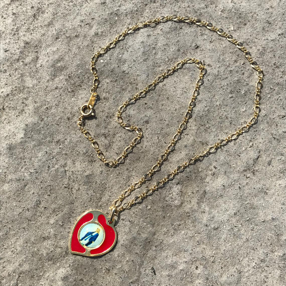 86 red heart maria necklace