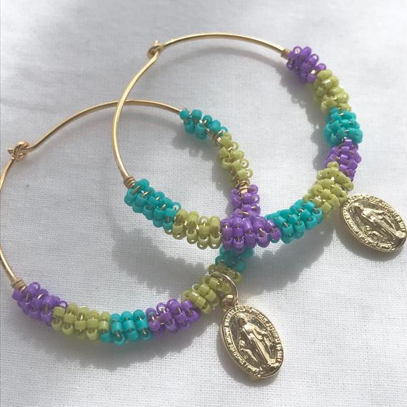 54 tropical island beads hoops