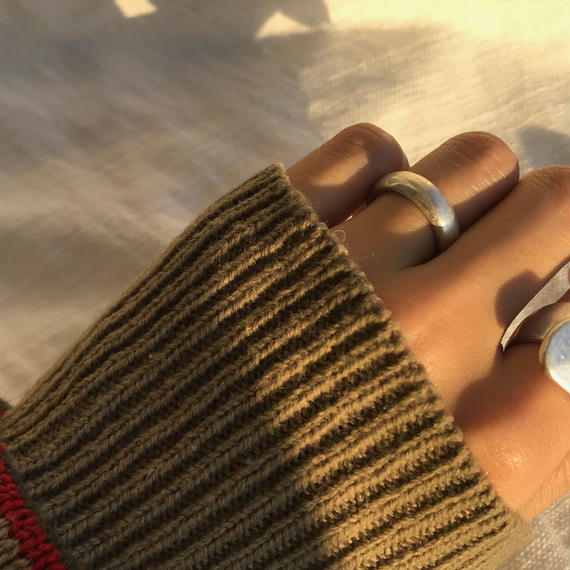 matte round ring -silver-