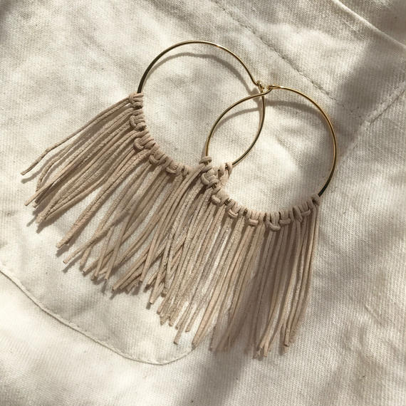 142 leather fringe hoops