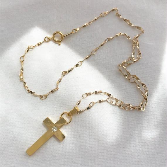 96 bijou cross unique chain necklace