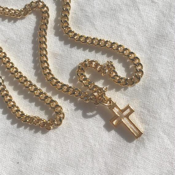 32 mini cross vintage chain choker